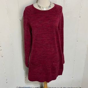 eight eight eight S cranberry long tunic sweater